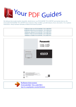 Kullanma talimati PANASONIC TX-L42ETW5