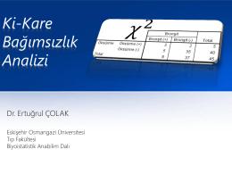 Ki-Kare Bağımsızlık Testi - anadolu üniversitesi eczacılık fakültesi