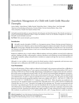Anaesthetic Management of a Child with Limb-Girdle