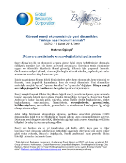 Küresel enerji ekonomisinde yeni dinamikler: Türkiye nasıl