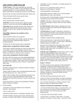 lise 9.sınıf tarih notları