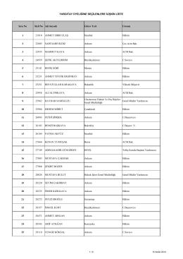 Yargıtay Üyeliğine Seçilenlere İlişkin Liste