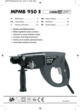 MPMB 950 E - Meister Werkzeuge