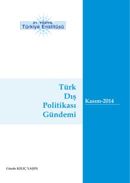 Türk Dış Politikası Gündemi - 21. Yüzyıl Türkiye Enstitüsü