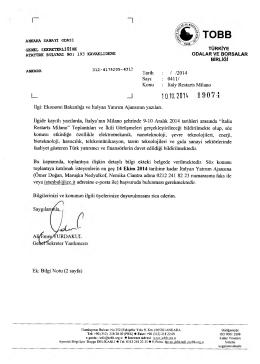 Tarih : / /2014 Sayı - Ankara Sanayi Odası