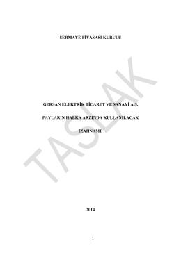 Gersan Taslak İzahneme 2014