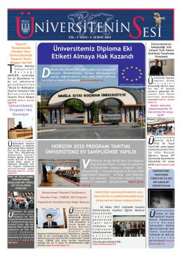 Şubat 2014 - Muğla Üniversitesi