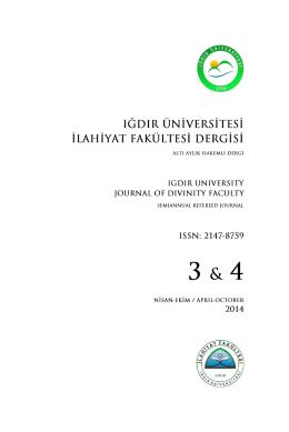 Editörden - iFDER - Iğdır Üniversitesi