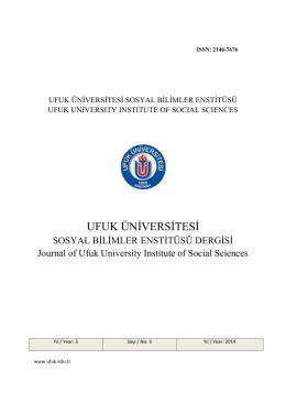 Ufuk Üniversitesi SBE Dergisi Sayı 5 kopya