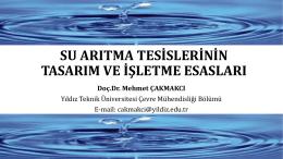 Su Arıtma Tesislerinin Tasarım ve İşletme Esasları