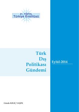Türk Dış Politikası Eylül Gündemi