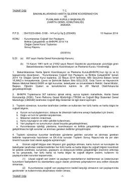 yurtiçi ilişkiler şubesi - Harita Genel Komutanlığı