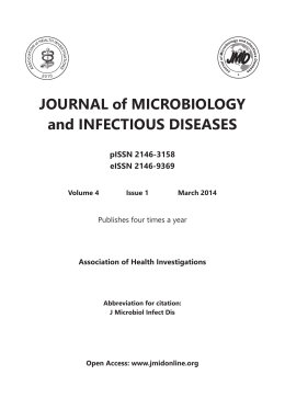 JOURNAL of MICROBIOLOGY and INFECTIOUS DISEASES pISSN