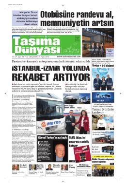 Taşıma Dünyası Gazetesi-155PDF 22 Eylül 2014 tarihli sayısını
