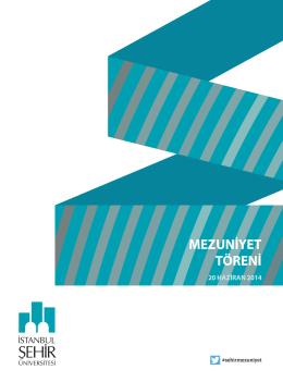 mezuniyet töreni kitapçığı - İstanbul Şehir Üniversitesi