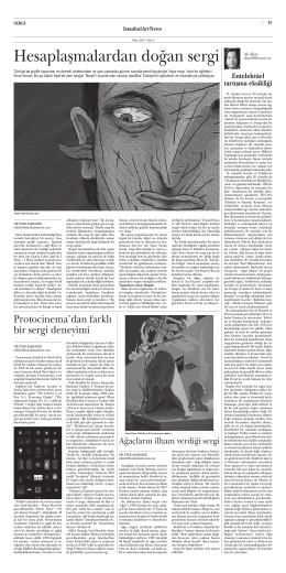 """Hesaplaşmalardan doğan sergi,"" Istanbul Art News"