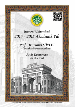 Prof. Dr. Yunus SÖYLET - İstanbul Üniversitesi