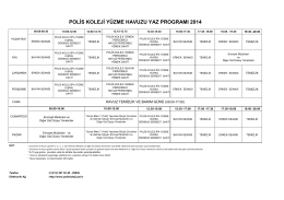 polis koleji yüzme havuzu yaz programı 2014