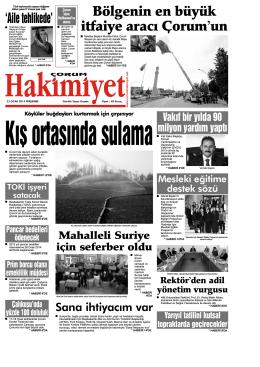 23 ocak.qxd - Çorum Hakimiyet Gazetesi