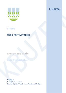 PFS105 - Karabük Üniversitesi