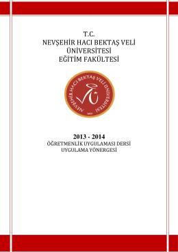 2013 - 2014 - Nevşehir Hacı Bektaş Veli Üniversitesi