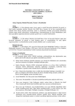 SHT-ÇHHA - Sivil Havacılık Genel Müdürlüğü