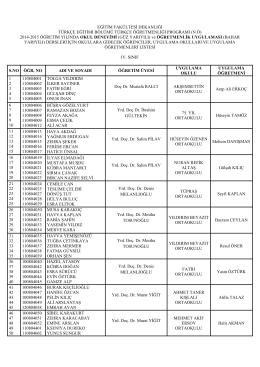 staj grupları listesi