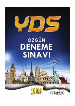 Tıklayınız YDS deneme sınavı için