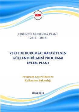 Yerelde Kurumsal Kapasitenin Güçlendirilmesi Programı Eylem Planı