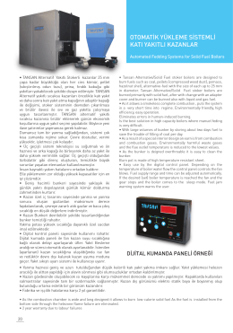 otomatik yükleme sistemli katı yakıtlı kazanlar