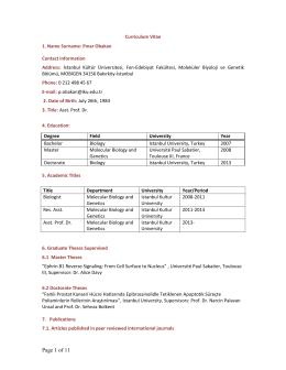 Page 1 of 11 - İstanbul Kültür Üniversitesi
