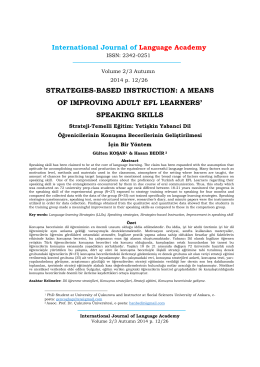 strategies-based instruction a means of improving adult efl learners