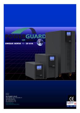 UNIQUE SERİSİ 1 – 20 kVA