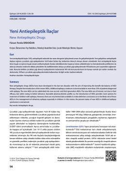 Yeni Antiepileptik İlaçlar