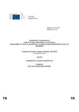 2014 İlerleme Raporu - Avrupa Birliği Bakanlığı