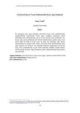 İktisadi Yenilik Dergisi Örnek Makale Dosyası