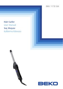 BKK 1178 SM Hair Curler User Manual Saç Maşası Kullanma