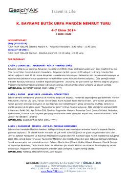 Urfa, Mardin, Nemrut (pdf)