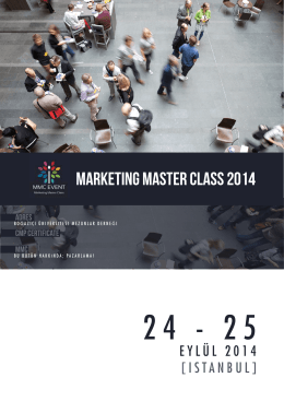 Marketing Master Class 2014