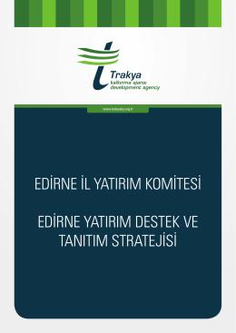 edirne il yatırım komitesi edirne yatırım destek ve tanıtım stratejisi