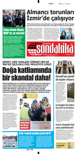Almancι torunlarι İzmirГde çalιşιyor