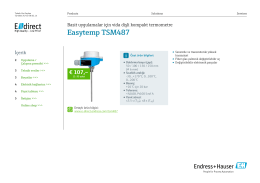 Easytemp TSM487 (PDF 1,87 MB) - E-direct