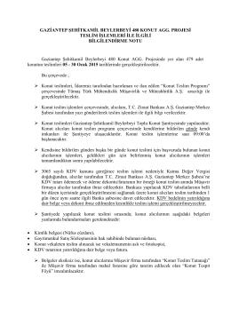 GAZİANTEP ŞEHİTKAMİL BEYLERBEYİ 480 KONUT AGG