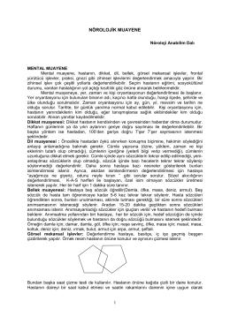 DUYU MUAYENESİ - okm.omu.edu.tr