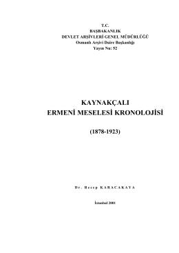 kaynakçalı ermeni meselesi kronolojisi