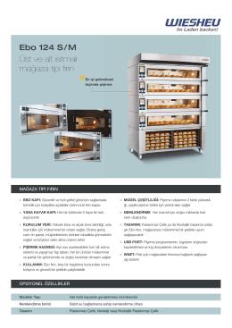 Ebo 124 S / M Üst ve alt ısıtmalı mağaza tipi fırın