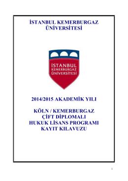 indirebilirsiniz - İstanbul Kemerburgaz Üniversitesi