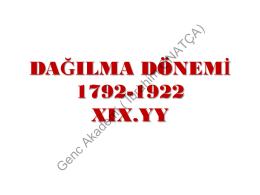 Osmanlı Dağılma Dönemi (indir)