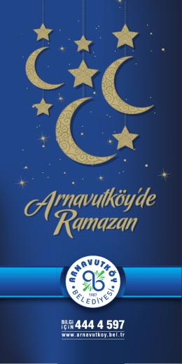 Ramazan Ayı Etkinlik Broşürüne ulaşmak için tıklayınız