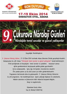 2.gün (18.10.2014, cumartesi) - Başkent Üniversitesi Adana Hastanesi